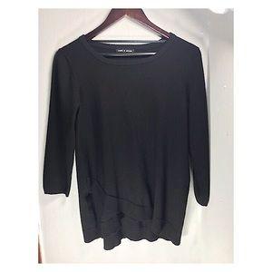 Cable & Gauge Black Sweater